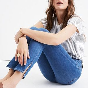 """Madewell 9"""" High Rise Skinny Jeans with Slit Ankle"""